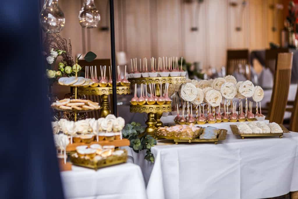 Candy Bar in roségold, weiß und gold