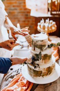 Hochzeitstorte 3 Etagen Anschnitt